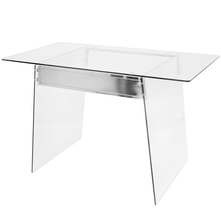 Lumisource glacier desk clearchrome corporate perks lite glacier contemporary desk in clear and chrome by lumisource gumiabroncs Image collections
