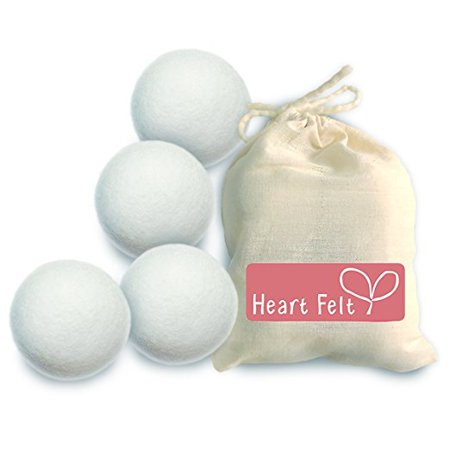 Heart Felt Wool Dryer Balls (4 Pack)