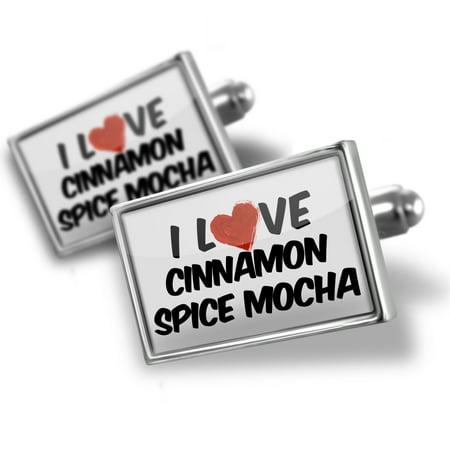 Cufflinks I Love Cinnamon Spice Mocha Coffee - NEONBLOND
