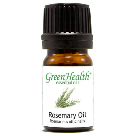 Rosemary Essential Oil - 1/6 fl oz (5 ml) Glass Bottle w/ Euro Dropper - 100% Pure Essential Oil by GreenHealth