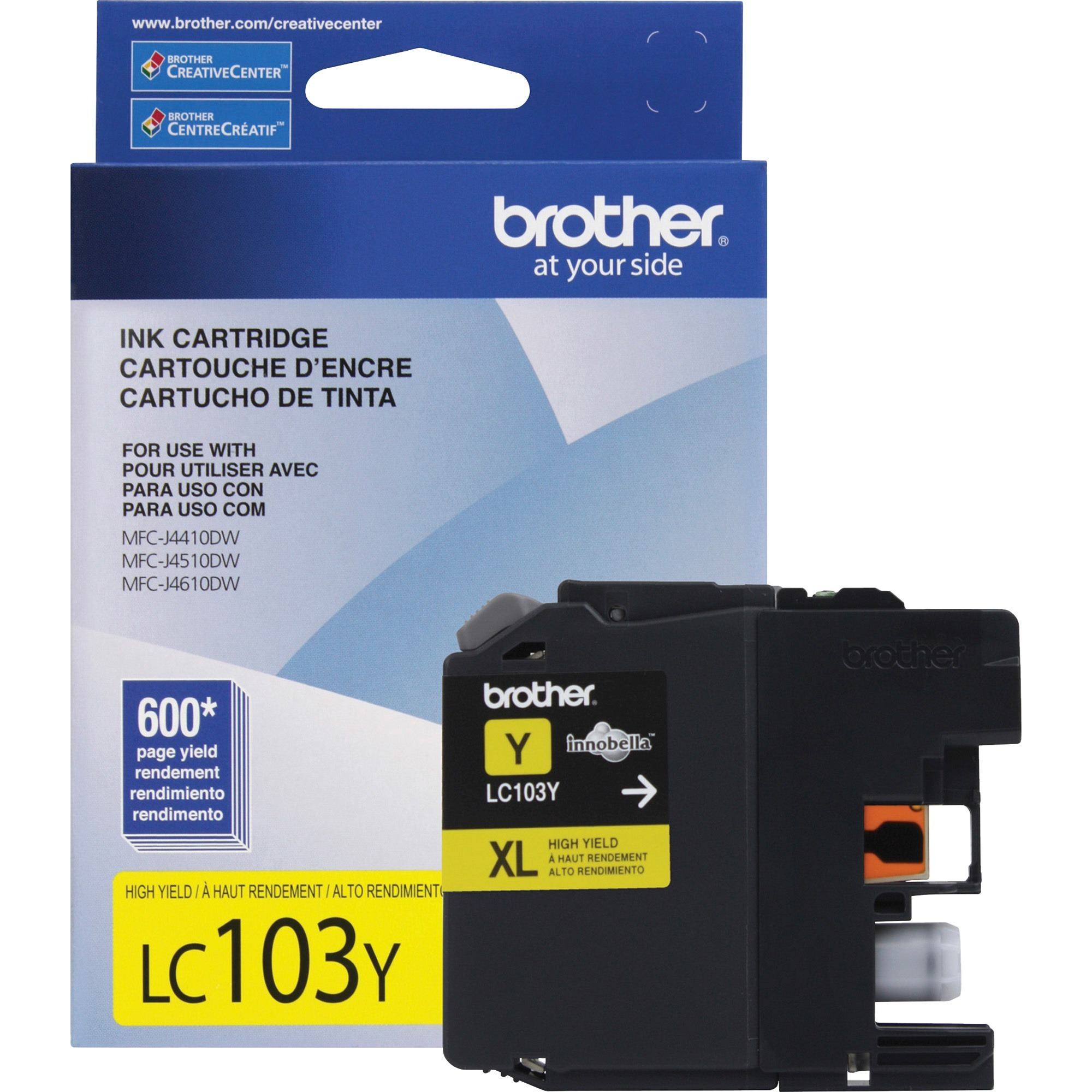 Brother LC103Y Innobella High-Yield Ink, Yellow