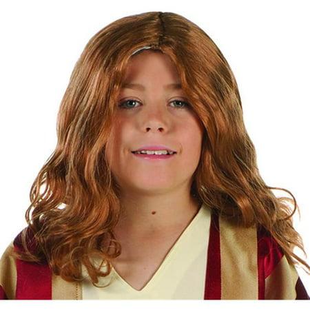 RG Costumes 60102 Perruque Costume Enfant J-sus - Marron - image 1 de 1