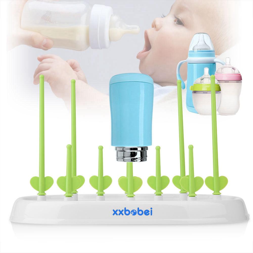 VBESTLIFE Baby Bottle Drying Rack,Safe Detachable Baby Bottle Drying Rack Drainer Storage Rack for Feeding Holder Tools Detachable Drying Rack Baby