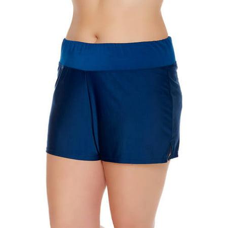 b2fde3d0b334fa Catalina - Women s Plus-Size Full Coverage Swim Shorts - Walmart.com