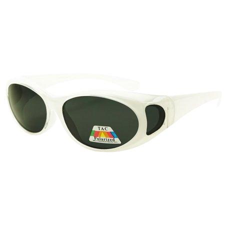 SunglassUP Medium Round Polarized Anti Glare Driving Wearover Sunglasses That Fit Over Prescription Glasses (Polarized Prescription Eyeglasses)