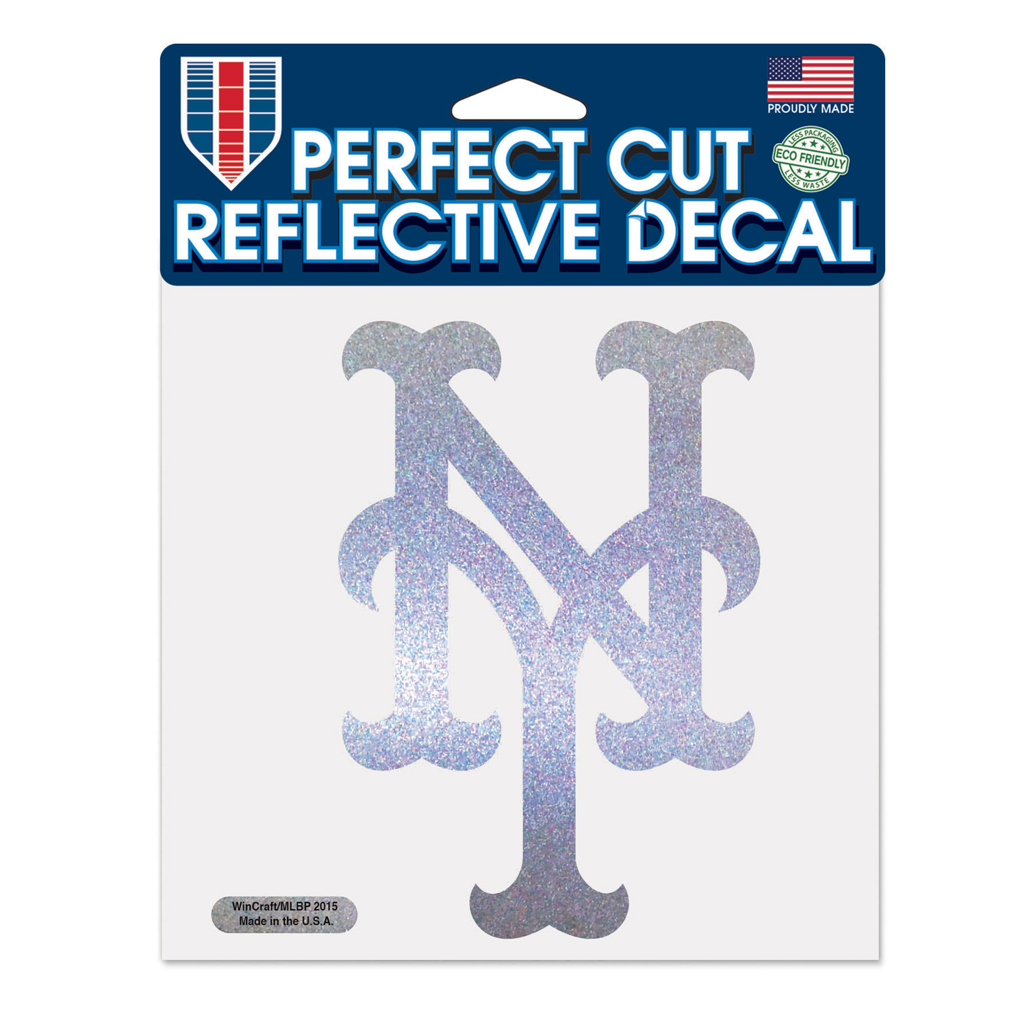 """New York Mets WinCraft 6"""" x 6"""" Reflective Perfect Cut Decal - No Size"""