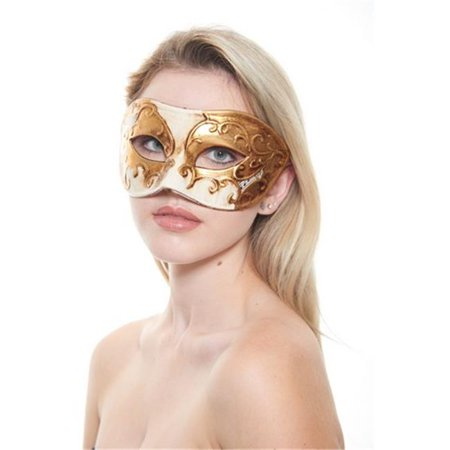 Black And Green Masquerade Mask (Kayso PM015WH White & Gold Venetian Musical Masquerade)