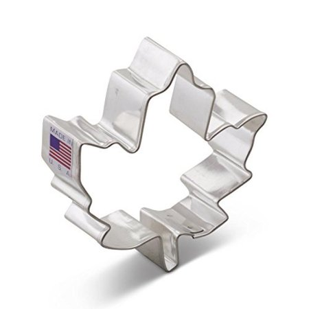 3 Inch Tin Cookie Cutter - Ann Clark Maple Leaf Cookie Cutter - 3 Inches - Tin Plated Steel