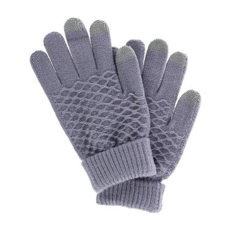 Women's Jacquard Pattern Dress Winter Touchscreen (Beauty Satin Dress Glove)