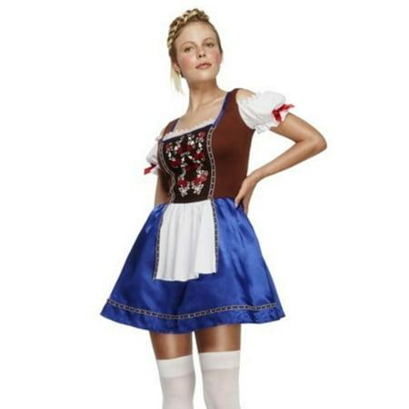 German Dirndl Dress Costume Smiffys 43492 Multi Color](German Costume)