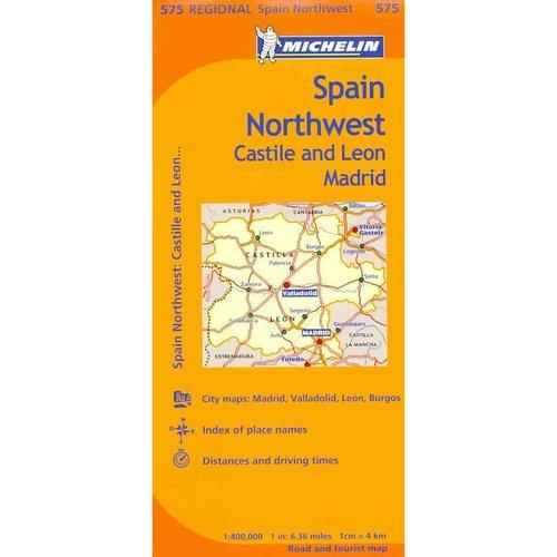 Michelin Spain Northwest, Castilla and Leon Madrid 575 Regional / Michelin Espagne Nord-ouest Castille et Leon Madrin, Regional 575