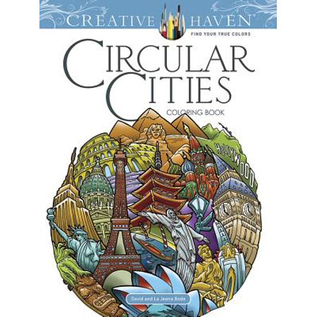 Creative Haven Circular Cities Coloring Book - Party City New Haven
