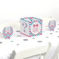 Chevron Gender Reveal - Baby Shower Party Centerpiece & Table Decoration Kit