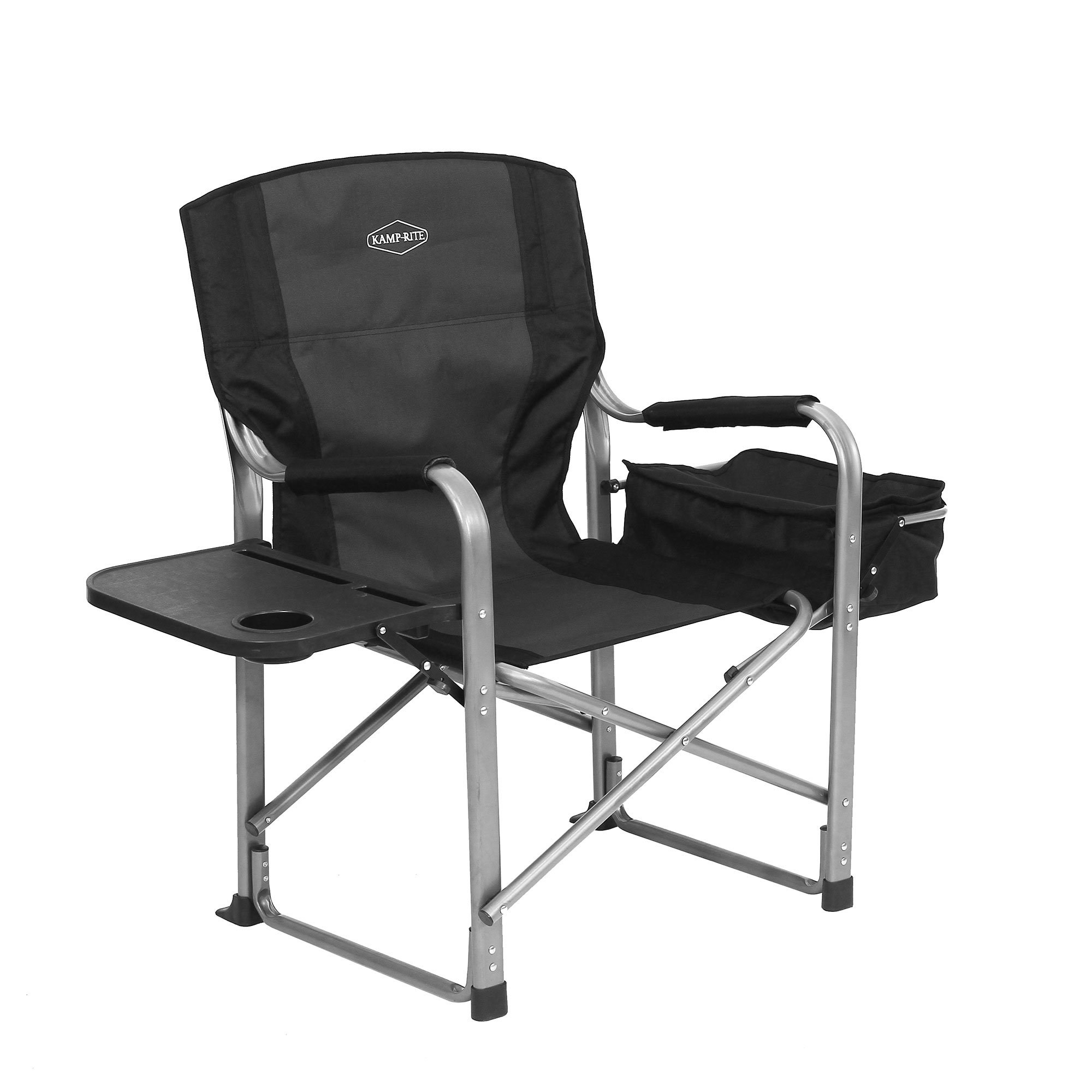 Kamp-Rite Outdoor Camp Folding Director's Chair with Table, Cooler, and Opener - image 1 de 5