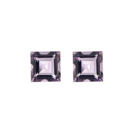 Glitzy Rocks  Square 7x7mm 3.3ct TGW Amethyst Stones (Set of (Amethyst Two Stone)