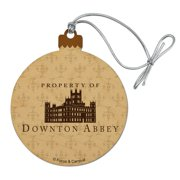 Downton Abbey Property Of Wood Christmas Tree Holiday Ornament