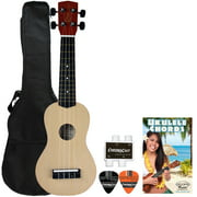 Rise by Sawtooth Beginner's Ukulele Pack with Picks, Wet Sand