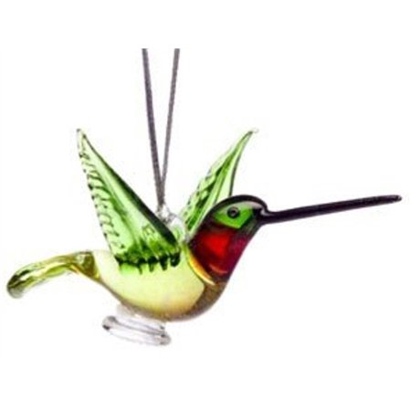 Glass Ruby Throated Hummingbird Christmas Ornament](Christmas In July Celebration Ideas)