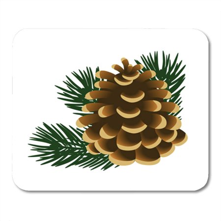 KDAGR Brown Single Pinecone and Twigs of Pine Tree The Green Mousepad Mouse Pad Mouse Mat 9x10 inch