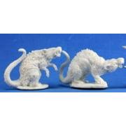 Reaper Miniatures REM77198 Barrow Rats - Pack of 2