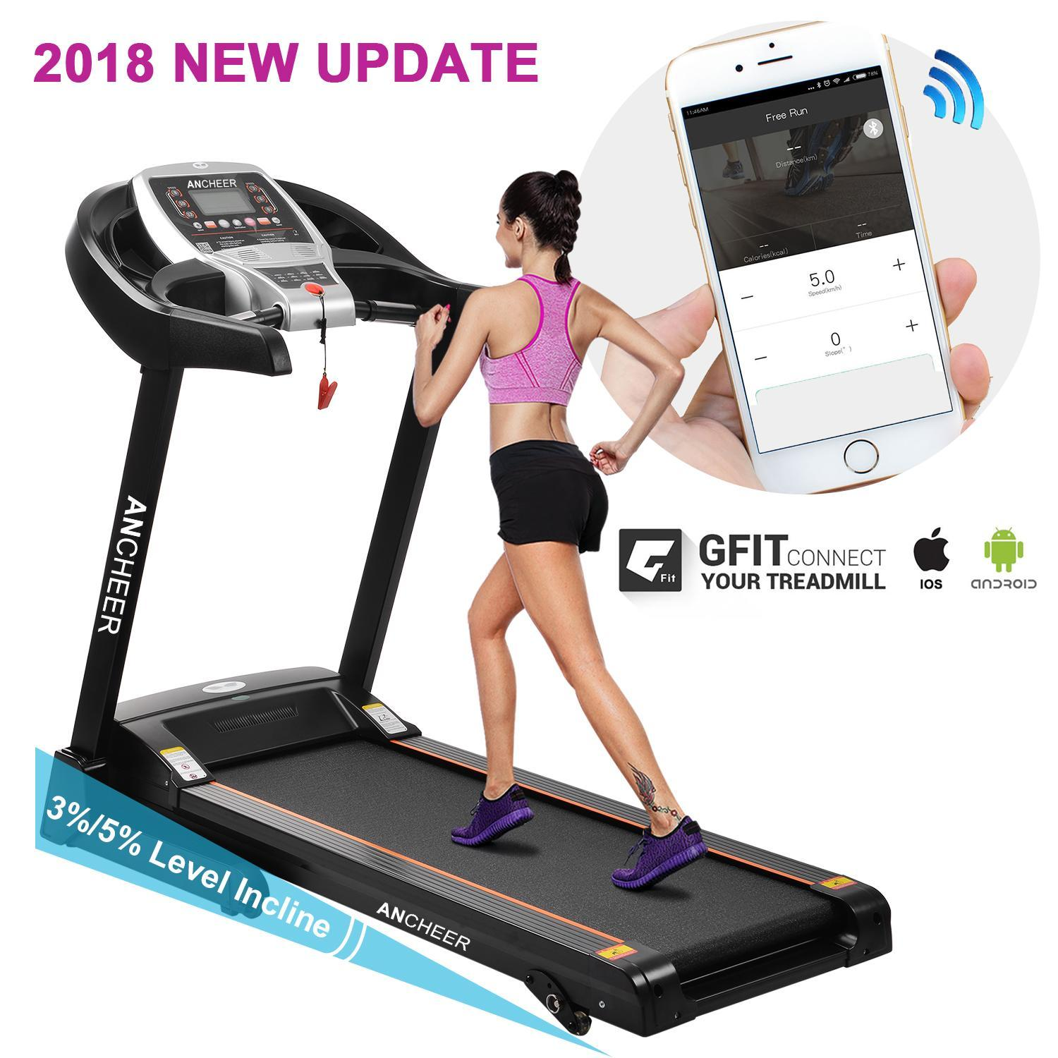 Hifashion Treadmill APP Blutooth&Wifi+Manual incline S5300 Folding Electric Treadmill