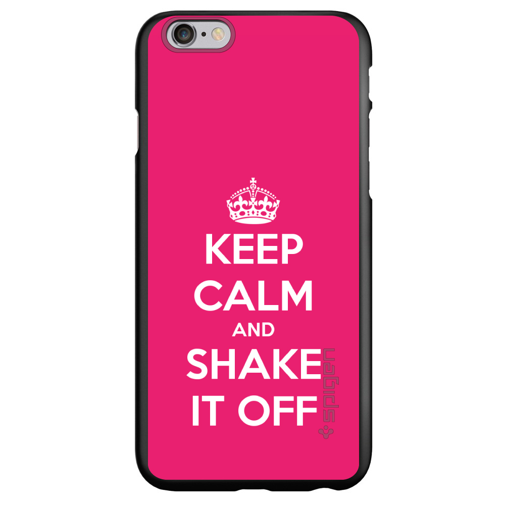 "CUSTOM Black Spigen Thin Fit Case for Apple iPhone 7 PLUS / 8 PLUS (5.5"" Screen) - Keep Calm and Shake It Off"