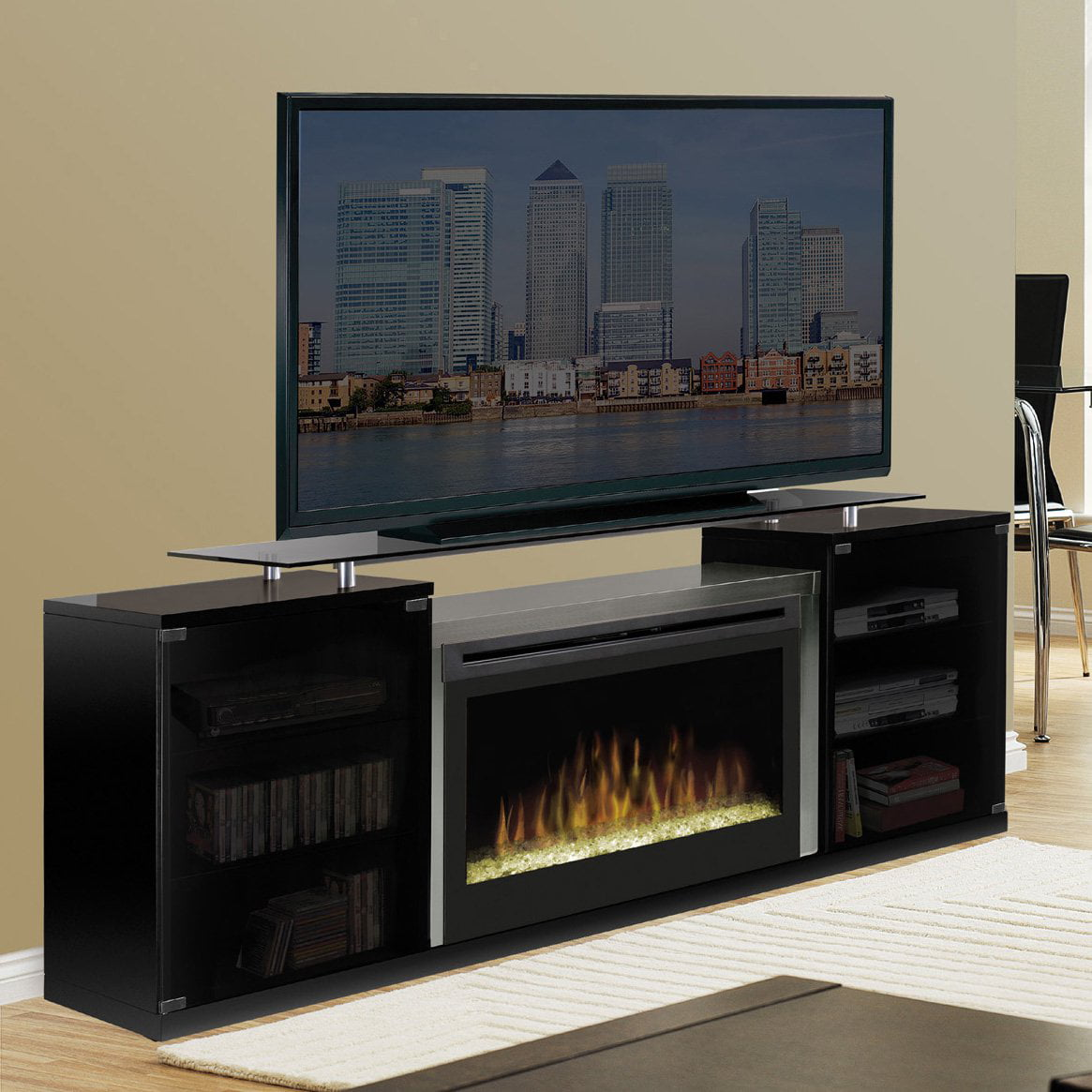 Dimplex Marana Media Console Log Electric Fireplace For