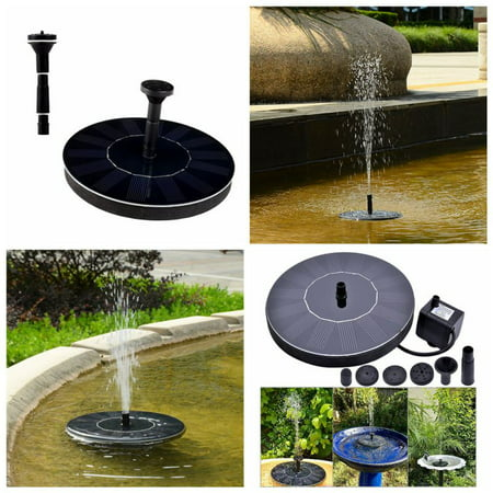 Solar Power Fountain Water Pump Floating Panel For Pool Garden Patio