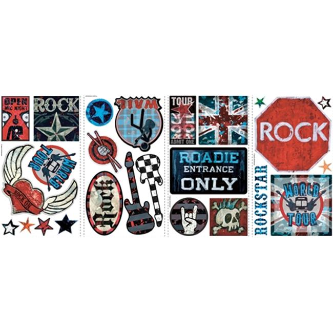 Roommate RMK1563SCS Boys Rock N Roll Wall Decals