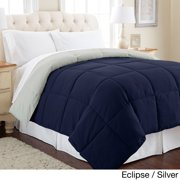 All Season Reversible Down Alternative Microfiber Comforter Eclipse/Silver - King