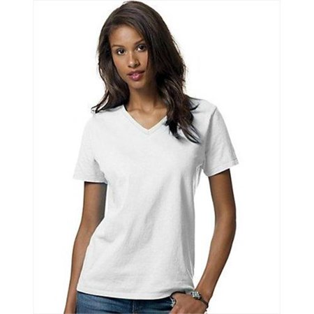 5780 Relaxed Fit Women Comfortsoft V-Neck T-Shirt 3XL Navy Blue - image 1 of 1