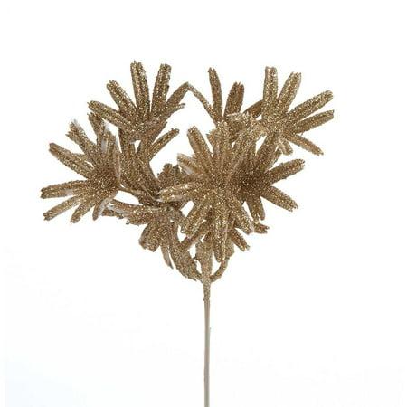 Mini Pale (Glittered Mini Palm Christmas Pick, Gold, 6-Inch, 4-Piece )