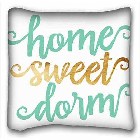 - WinHome Home Sweet Dorm Gold Chevron Throw Pillow Case Cases Cover Cushion Covers Sofa Size 18x18 Inches Two Side