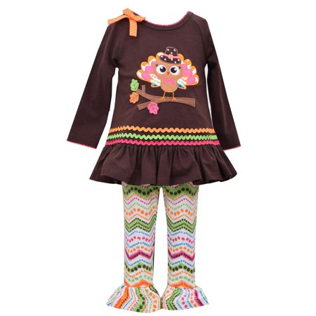 Bonnie Jean Little Girls Pilgrim Turkey Tunic Legging Set 4T 4T