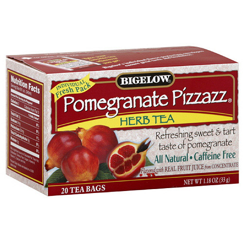 Bigelow Pomegranate Pazaz Herbal Tea, 20ct  (Pack of 6)