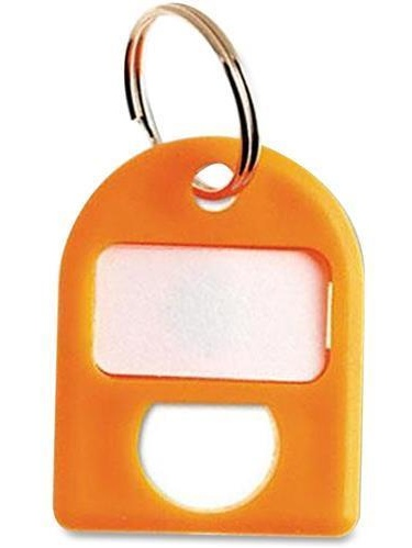 CARL 80078 Color-coded Labeling Key Tags 8 Pack Plastic Yellow by Carl Manufacturing USA, Inc