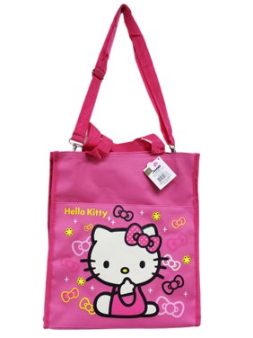 71bb361fbc72 ... Product Image Hello Kitty Flowers and Bows Pink Colored Kids Tote Bag  premium selection c2bdf faaaa ...