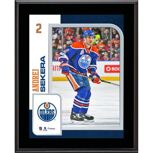 "Andrej Sekera Edmonton Oilers 10.5"" x 13"" Sublimated Player Plaque - No Size"