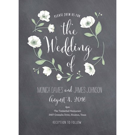 Wedding Flowers Standard Wedding Invitation](Black And Gold Invitations)