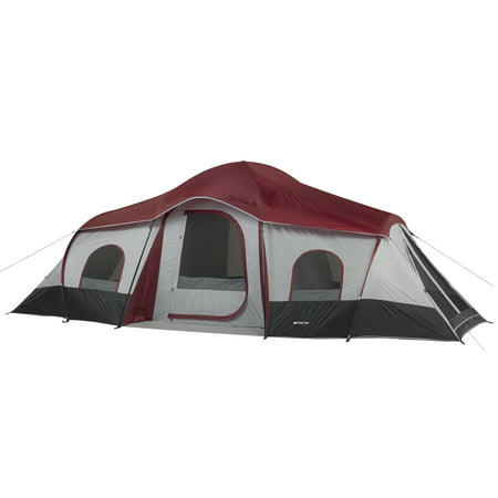 Ozark Trail 10-Person 3-Room Cabin Tent with 2 Side (Best 4 Person Tent For The Money)