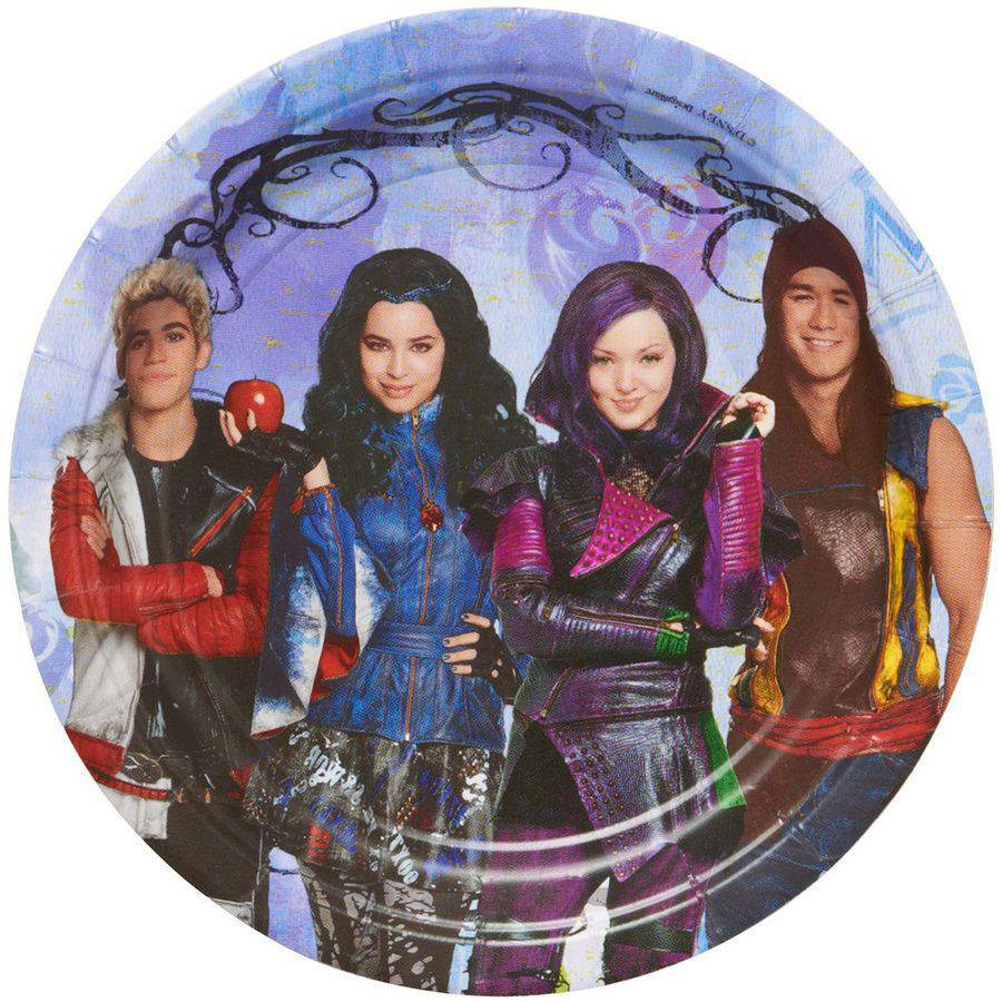 "7"" Descendants Round Party Plate, 8ct"