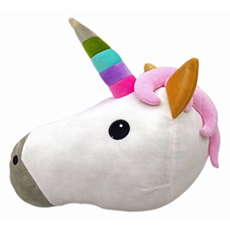 Unicorn Emoji Smiley Emoticon Cushion Pillow Stuffed Plush Toy Doll Poop Emoji Face Bed Pillow Home Living Room Decoration Pillows - Smiley Face Cushion