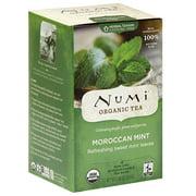 Numi Organic Moroccan Mint Black Tea Bags, 18 count, (Pack of 6)
