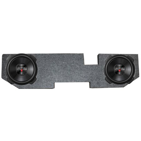 2) Kenwood KFC-W3016PS 12 Inch 2000W Subwoofers + Dodge Ram Quad Cab '02-New (Best Subwoofer For Dodge Ram Quad Cab)