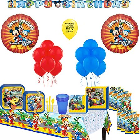 Mickey Mouse Roadsters Deluxe Birthday Party Supply and Balloon Kit (Mickey Mouse Halloween Party Supplies)