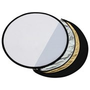 """AGPtek 43"""" 5-in-1 Light Mulit Collapsible Disc Reflector For Photography (110cm)"""
