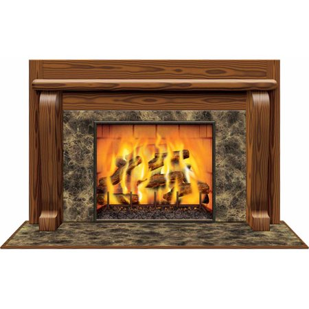 Insta View Fireplace Cardboard Stand-Up - Cardboard Fireplace Decoration