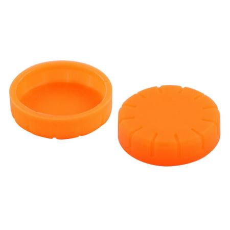 Home KTV Rubber Microphone Battery Bottom Cover Orange 31mm Inner Dia 2pcs - image 2 of 3