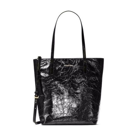 c04c1f8a6760 Michael Kors - Michael Kors Emry Large North South Top Zip Crinkled Patent Leather  Tote - Walmart.com