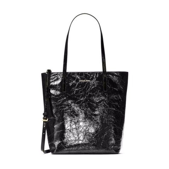 1853a451c2ee Michael Kors - Michael Kors Emry Large North South Top Zip Crinkled Patent  Leather Tote - Walmart.com